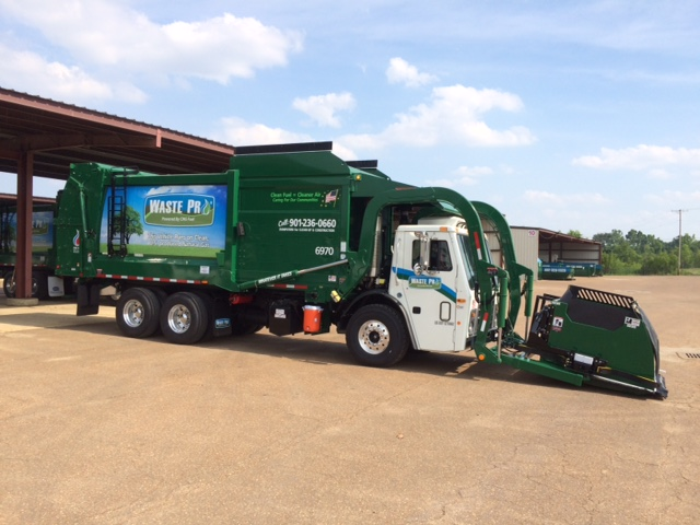 wast pro garbage collection truck