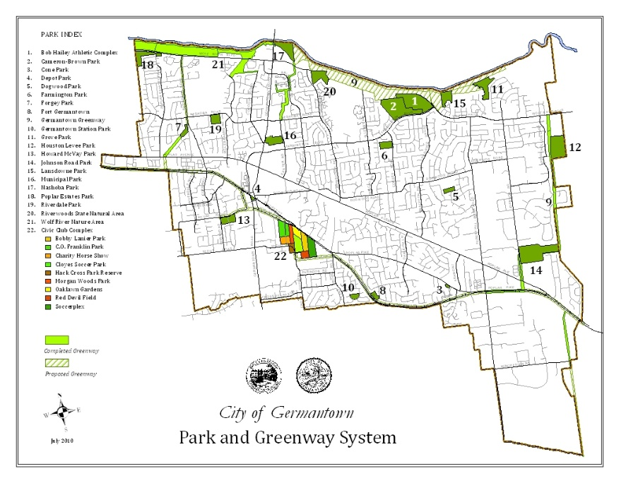 Map of parks