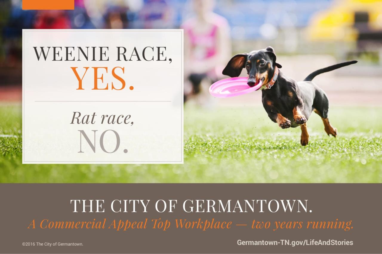 Germantown was named a top workplace by the Commercial Appeal two years in a row