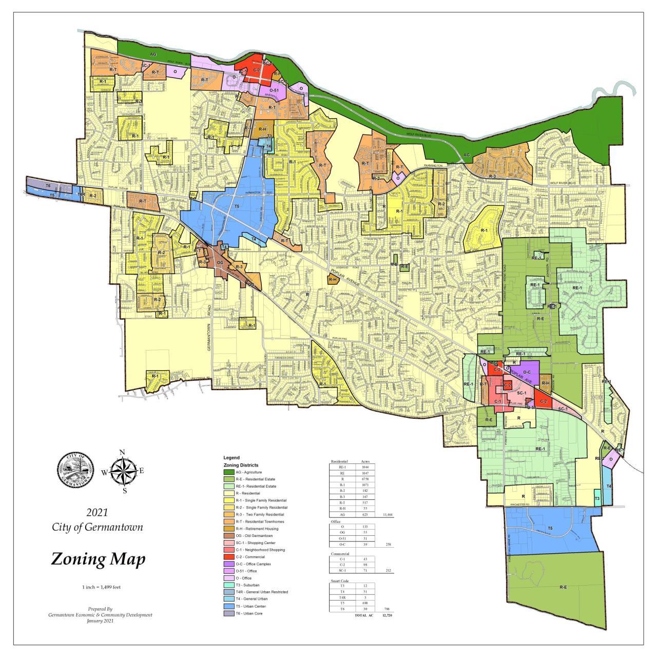 Germantown Zoning Map   City of Germantown on