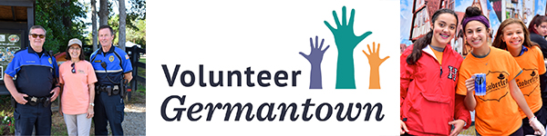 Promotional banner for volunteer Germantown